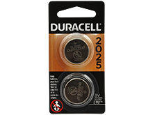 Duracell Electronics DL CR2025-B2PK 150mAh 3V Lithium Primary (LiMNO2) Watch/Electronic Coin Cell Batteries (DL2025B2PK) - 2 Pack Retail Card
