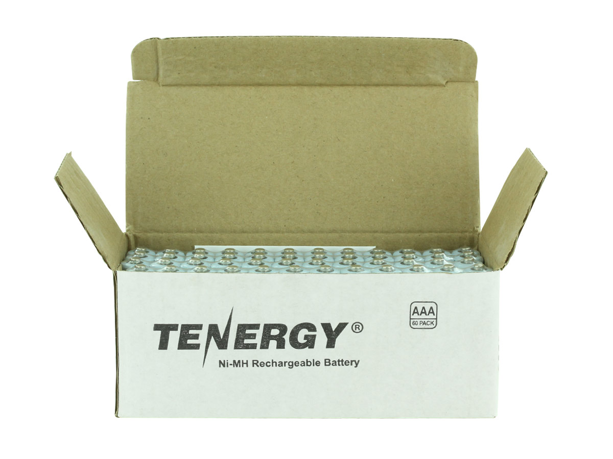 Open Box of 60 Tenergy 10400 AAA Batteries