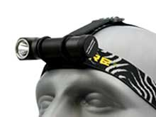 Nitecore HC33 High Performance LED Headlamp - CREE XHP35 - 1800 Lumens - Uses 1 x 18650 or 2 x CR123As - Optionally Available with a Battery and a Charger