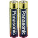 Panasonic Industrial LR03XWA AAA 1.5V Alkaline Button Top Batteries - 2 Pack Shrink Wrap