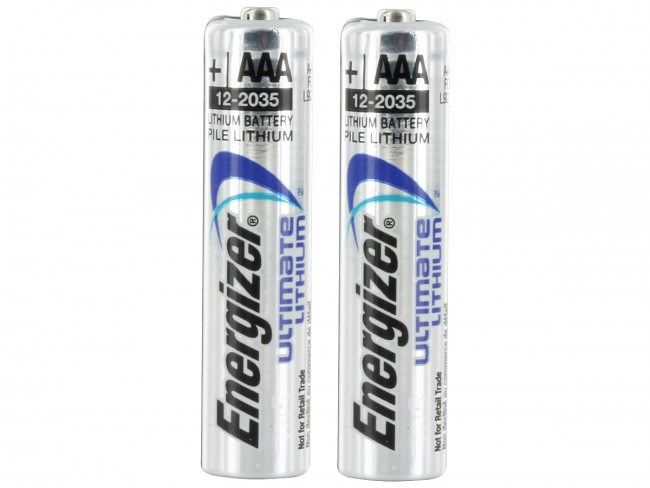 2 Energizer Ultimate L92 AAA batteries in shrink wrap