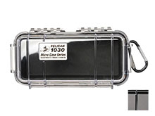 Pelican 1030 Watertight Case - Black - Available with Clear or Solid Cover