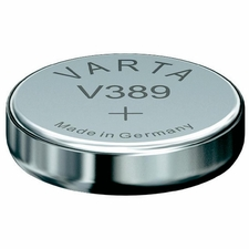 Varta 389 80mAh 1.55V Electronic Silver Oxide Coin Cell Battery (V389) - Pill Box (V20389101111)