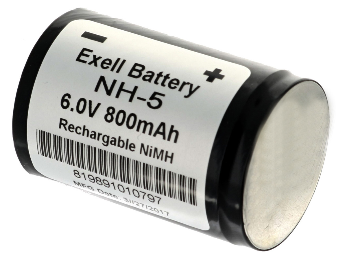 6V output of rechargeable battery power