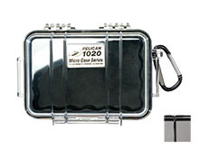Pelican 1020 Watertight Case With Liner - Black - Available with Clear or Solid Cover