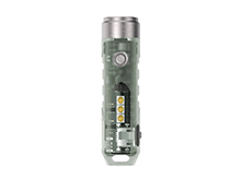 RovyVon Aurora A5x Mini Keychain Rechargeable GITD LED Flashlight - Choose Main and Side LEDs - 450 or 650 Lumens - Includes Built-In Li-ion Battery Pack