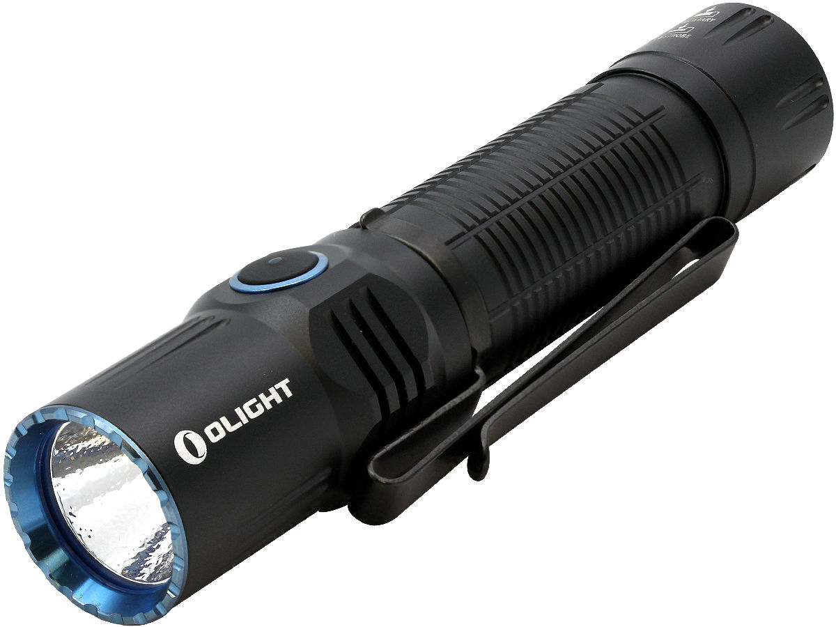 Angle Shot of the Olight M2R Warrior Rechargeable Tactical Flashlight