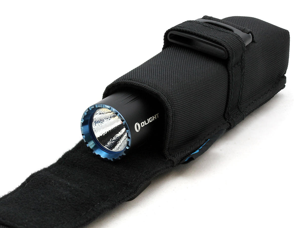 Holster Shot of the Olight M2R Warrior Rechargeable Tactical Flashlight
