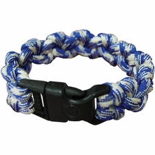 Ultimate Survival Technologies Survival Bracelet - Wrist Band with Nylon Buckle - 7 Feet of Paracord 550 - Blue and White (20-295-354-N1)
