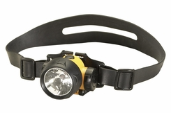 Streamlight Trident 61050 Multi-Purpose Headlamp with Optional Rubber Hard Hat Strap - 1 x C4 and 3 x 5mm White LEDs - 80 Lumens - Includes 3 x AAAs