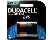 Duracell Ultra DL 245 1400mAh 6V Lithium Primary (LiMNO2) Digital Camera Battery (DL245BPK) - 1 Piece Retail Card