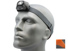 Inova STS LED Headlamp - White and Red LEDs - 265 Lumens - Uses 3 x AAA - Black or Orange