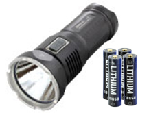JETBeam DDR30-GT Rechargeable Digital Display Flashlight with Batteries - CREE XHP70 LED - 3680 Lumens - Includes 4 x JL260 18650s