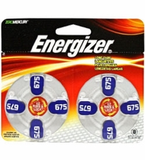 Energizer EZ Turn & Lock AZ675-DP (8PK) Size 675 620mAh 1.45V Zinc Air Blue Hearing Aid Batteries - 8 Piece Blister Pack