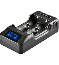 XTAR VP2 2-bay Li-ion/Li-Po Battery Charger - Charges 10440, 14500, 14650, 16340, 17500, 17670, 18350, 18500, 18650, 18700, 22650, 25500, and 26650