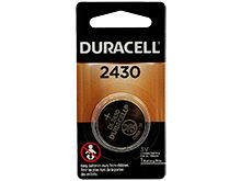 Duracell Duralock DL CR2430 285mAh 3V Lithium  (LiMNO2) Watch/Electronic Coin Cell Battery - 1 Piece Retail Card
