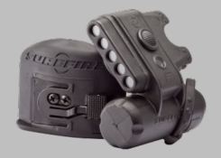 SureFire HL1-A Variable-Output Helmet Light with 3 x White, 2 x Blue and 1 x Infrared IFF LEDs - 19.2 Lumens - Includes 1 x CR123A - Black or Desert Tan
