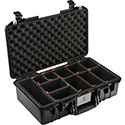 Pelican 1525 AIR Watertight Case with Logo - Black - Multiple Inserts Available