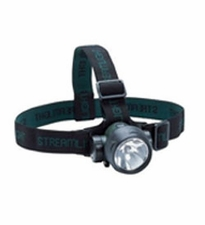 Streamlight Trident Multi-Purpose Headlamp with Optional Rubber Hard Hat Strap - 1 x C4, 2 x 5mm White and 1 x 5mm Green LEDs - 80 Lumens - Includes 3 x AAAs (61051)