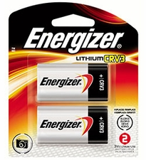 Energizer EL CRV3-BP-2 3000mAh 3V Lithium Primary (LiMNO2) Photo Batteries - 2 Count Retail Card