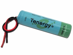 Tenergy 18650 2600mAh 3.7V Protected Lithium Ion (Li-ion) Bare Leads Battery - Bulk (30011)