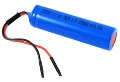 Tenergy 18650 2200mAh 3.7V Protected Lithium Ion (Li-ion) Bare Leads Battery - Bulk (30027)