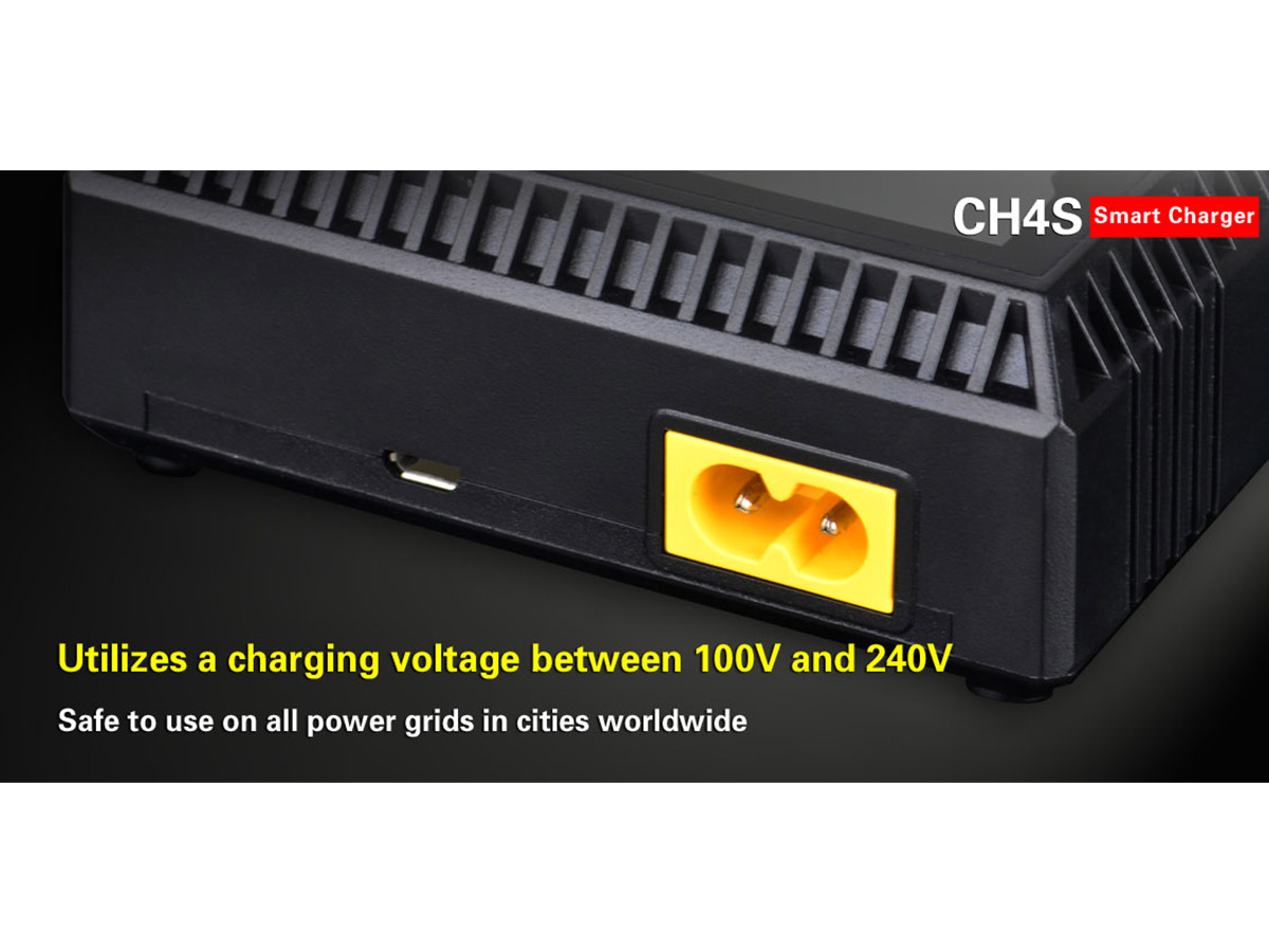 Klarus CH4S Smart Charger manufacturer slide with charging features