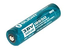 Olight LG ORB-186L34 18650 3400mAh 3.6V Protected Lithium Ion (Li-Ion) Button Top Battery - Retail Card