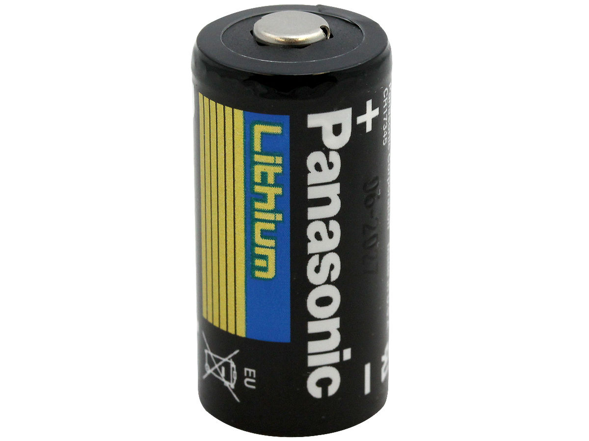 Panasonic CR123A battery upright