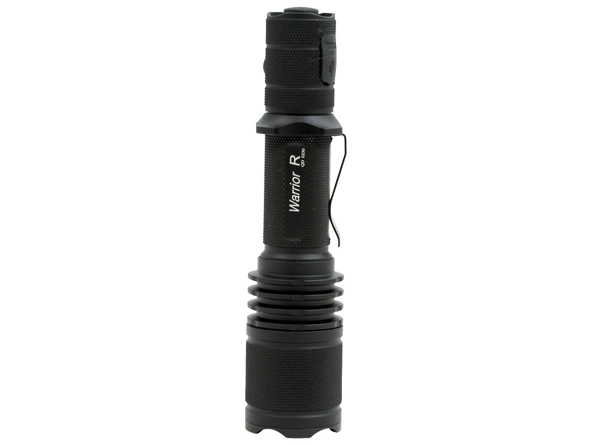 Standing Shot of the Powertac Warrior G3R Rechargeable LED Flashlight