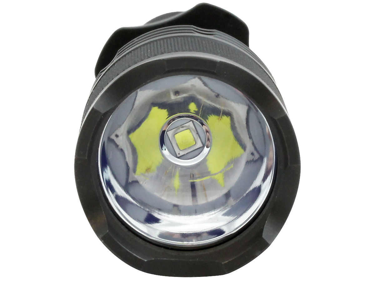 LED Shot of the Powertac Warrior G3R Rechargeable LED Flashlight