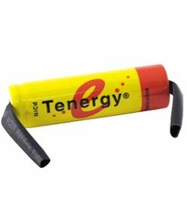 Tenergy 20102-1 AA 1000mAh 1.2V Nickel Cadmium (NiCd) Flat Top Battery with Tabs - Bulk