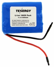 Tenergy 31016 Lithium Li-Ion 18650 11.1V 4400mAh Battery Pack