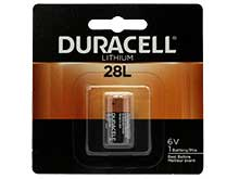 Duracell PX 28L L544 160mAh 6V Lithium (LiMNO2) Button Top Photo Battery - Equivalent to 4LR44, 544 - 1 Piece Retail Card