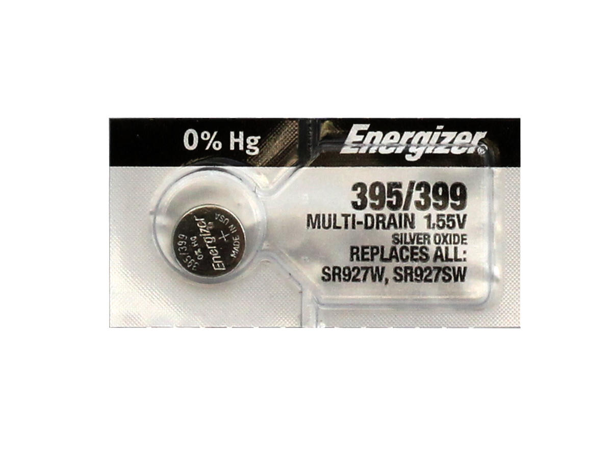 Energizer 395/399 coin cells in 1 piece tear strip packaging