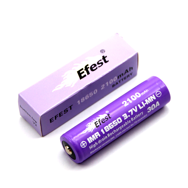 Efest 4144 button top 18650 with box