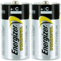 Energizer Industrial EN93 (2SHK) C-cell 1.5V Alkaline Button Top Batteries - 2 Pack Shrink Wrap