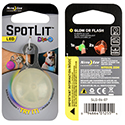 Nite Ize SpotLit Portable LED Light with Carabiner - Includes 2 x CR2016s - Regular with Disc-O LED
