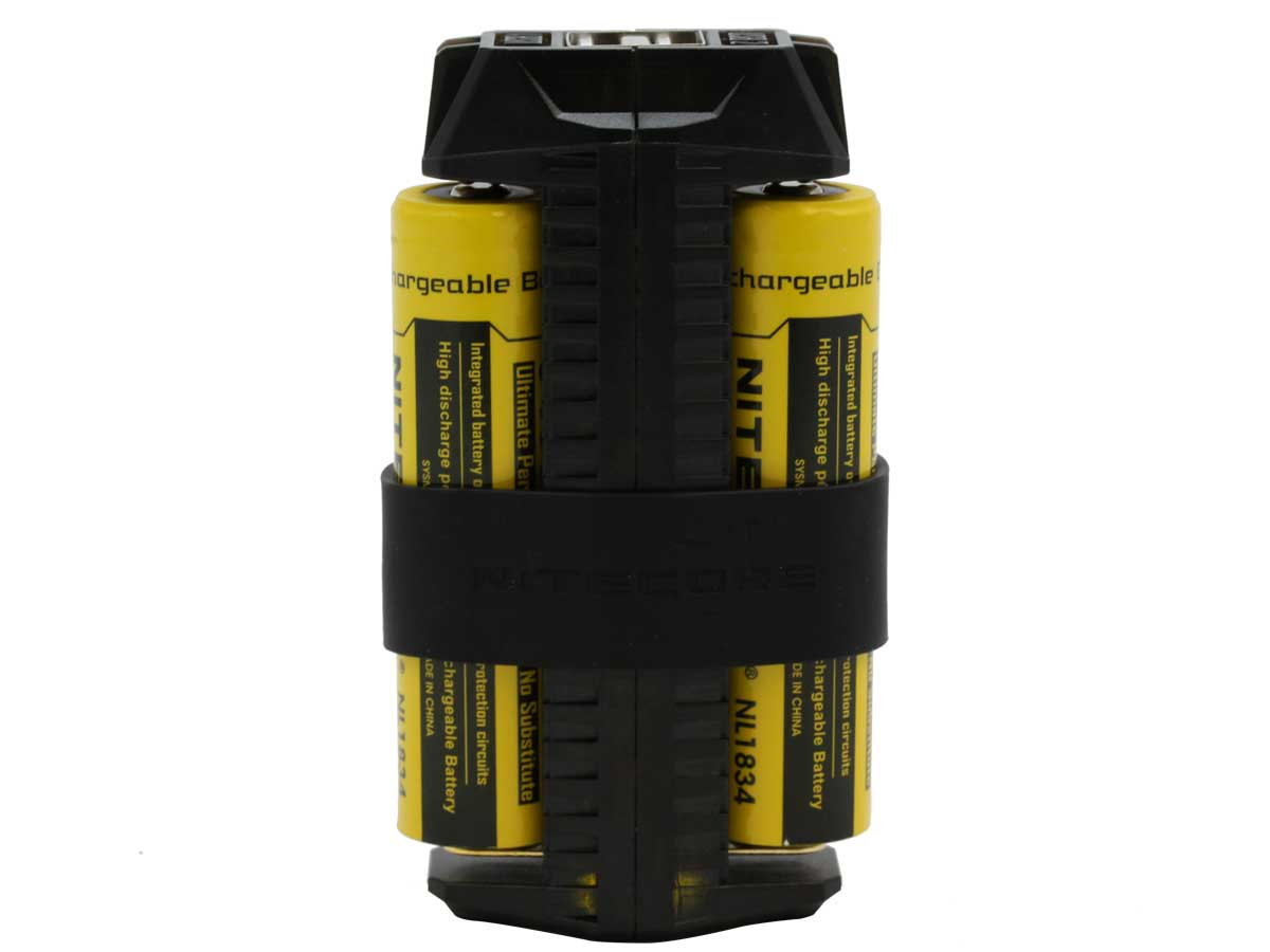 Nitecore F2 Power Bank with two 18650 batteries installed