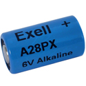 Exell A28PX 28A 6V Alkaline Industrial Battery for Pet Collars, Headlamps, Cameras - Equivalent to 4LR44, PX28, 544 - Bulk