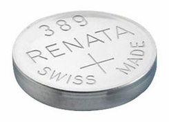 Renata 389 MP 80mAh 1.55V Silver Oxide Coin Cell Battery - 1 Piece Tear Strip, Sold Individually