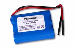 Tenergy 18650 6600mAh 3.7V Protected Lithium Ion (Li-ion) Bare Leads Battery - Bulk (31002)