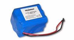 Tenergy 18650 6600mAh 11.1V Protected Lithium Ion (Li-ion) Bare Leads Battery - Bulk (31019)