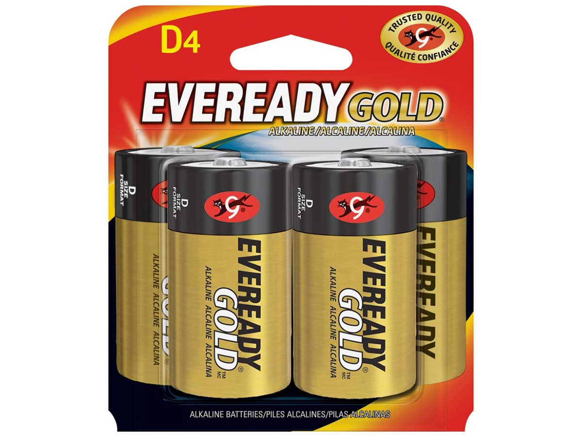 Energizer Eveready Gold D-cell - 10 Pack