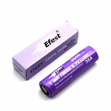 Efest IMR 18650 2500mAh 3.7V Unprotected Lithium Manganese (LiMn2O4) Flat Top (4066) Battery - Boxed