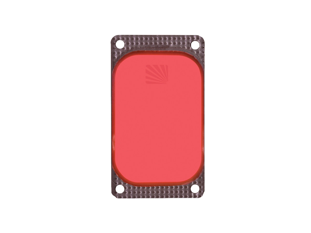 Close up of Cyalume VisiPad in red