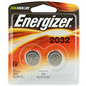 Energizer ECR2032-BP-2 240mAh 3V Lithium Primary (LiMNO2) Coin Cell Batteries - 2 Pack Retail Card (Wide)