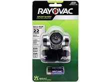 Rayovac Sportsman 3-in-1 LED Headlight - Red and White LEDs - 22 Lumens - Includes 3 x AAA (SPKHL3AAA-BA)