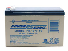 Power-Sonic AGM General Purpose PS-1270 7Ah 12V Rechargeable Sealed Lead Acid (SLA) Battery - F2 Terminal