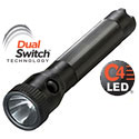 Streamlight PolyStinger DS Dual Switch Rechargeable Flashlight with Choice of Charger - C4 LED - 385 Lumens - Includes NiCd Sub-C Battery Pack
